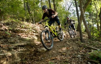 2 riders on Bella Vista mountain bike trail