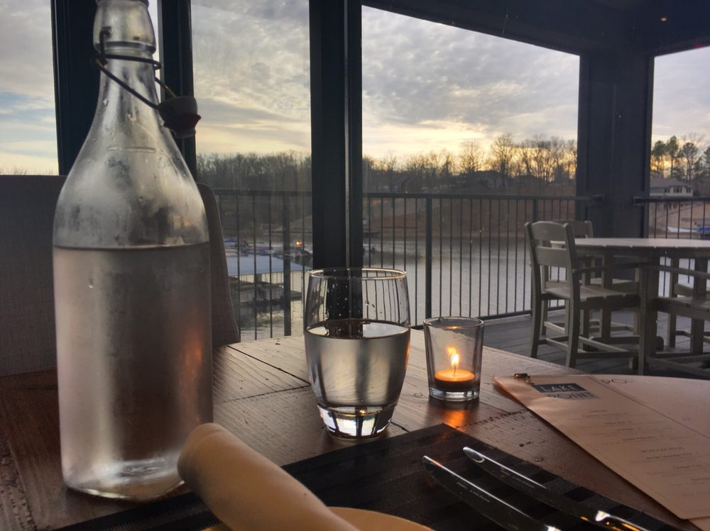 dining at Lakepoint Restaurant in Bella Vista,AR - overlooking the lake