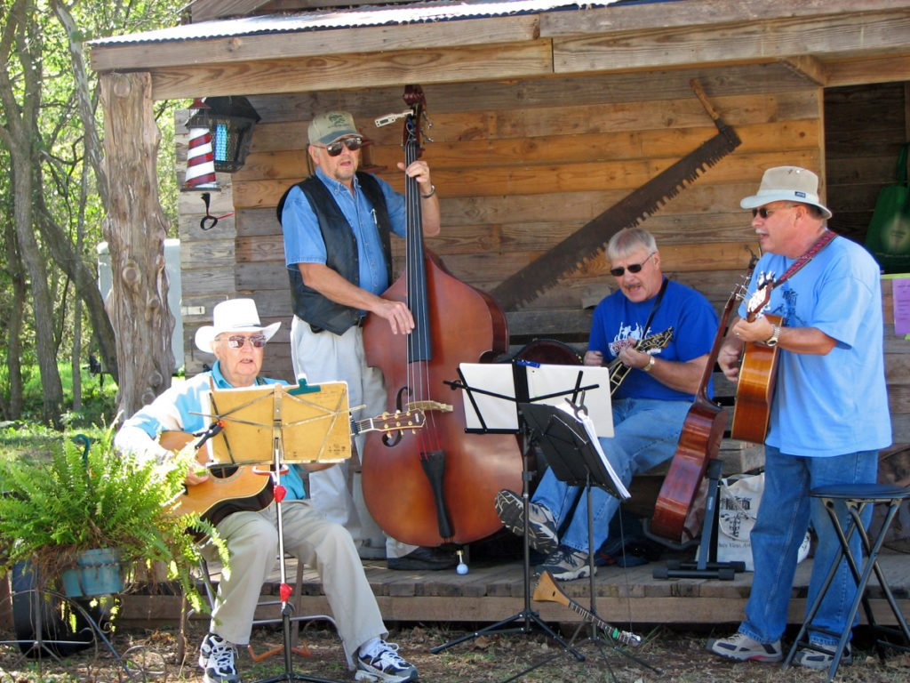 Musicians playing at Spanker Creek Fall Festival in Arkansas