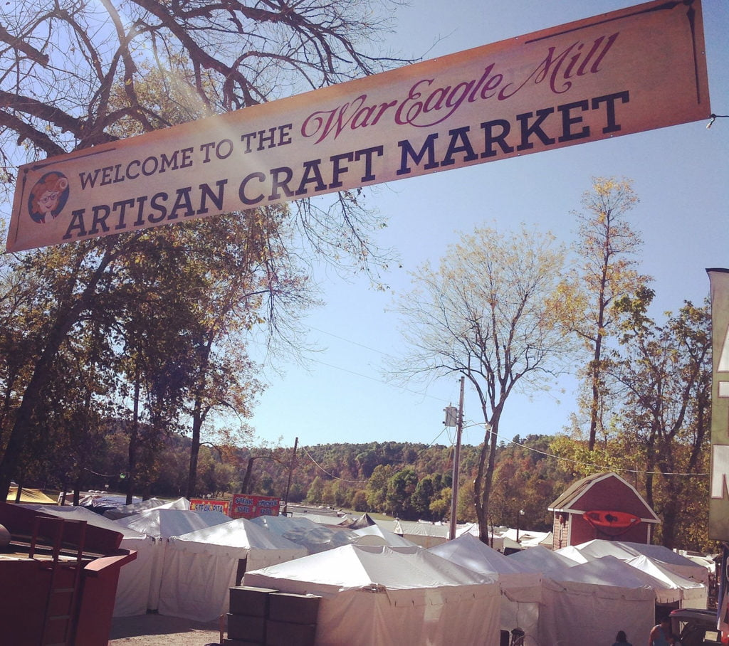 War Eagle Mill Craft Fair entrance